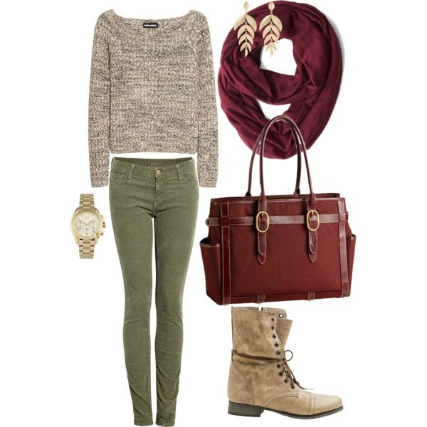 Fall Style Army Green Pants Outfits Fall Outfits