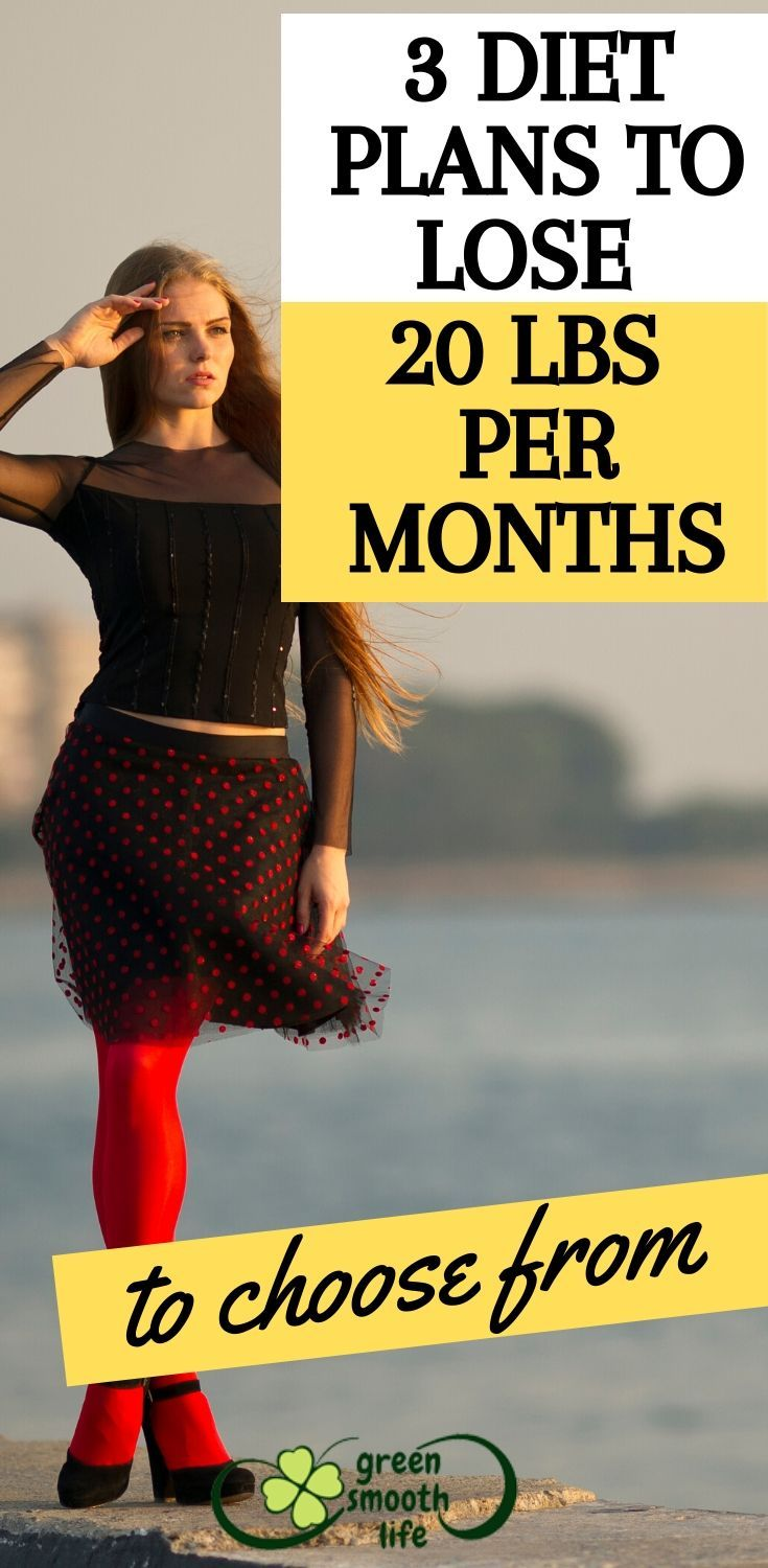 how to lose 20 pounds in 3 months diet plan