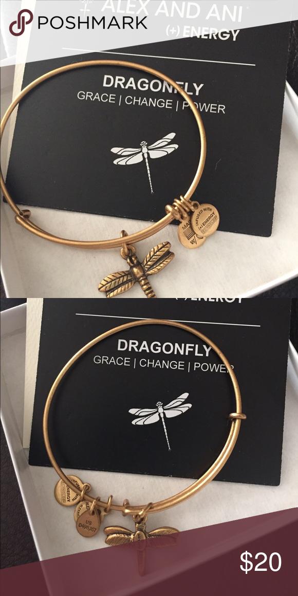 Alex And Ani Dragonfly Bracelet Brand New In Box With Tags Jewelry Bracelets