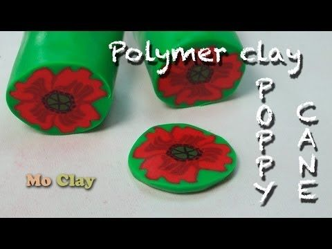 Easy cane Flower - Poppy Polymer clay tutorial - YouTube - and Mo has several other very good polyclay tutes as well!