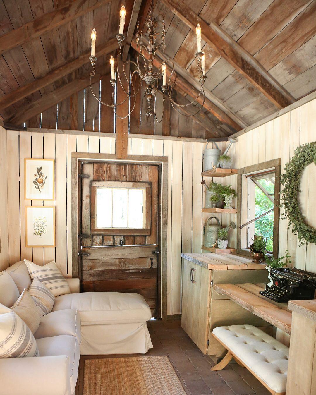 Cottage Farmhouse Vintage She Shed