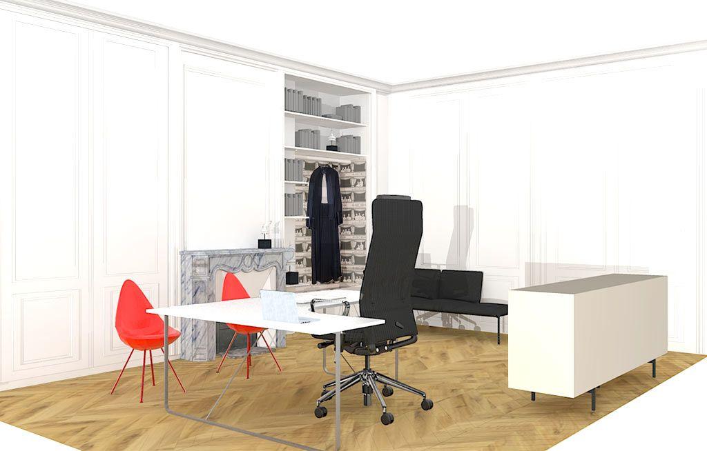 Décoration bureau d\'avocat, L\'Atelier Pigmenté, architecte d ...