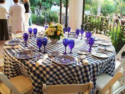 Re Invented Style Ceiving Guests Navy And Orange Breakfast Table