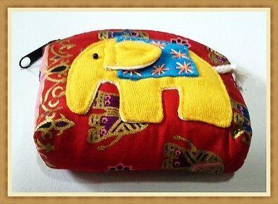 Coin Purse SOUVENIR Cute VINTAGE ELEPHANT  Wallet Bag Change Pouch Key Holder A