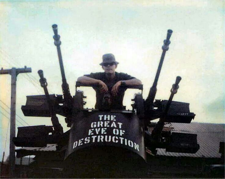 Vietnam. This is a Quad 50 Cal Machine Gun. We had one on my Fire Base, Birmingham. Ease of Hue Viet Nam. 101st Airborne