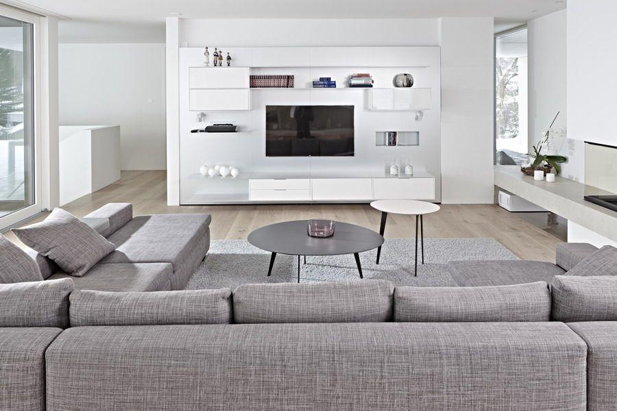 Seipp wohnen architektenhaus kompletteinrichtung mit m beln von siematic miele minotti flos - Wohnzimmer kompletteinrichtung ...