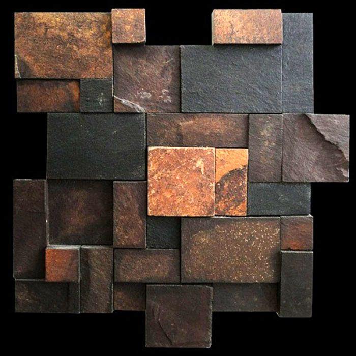 Mosaico diverso gran pedra ferro magma stone for Mosaico adesivo 3d