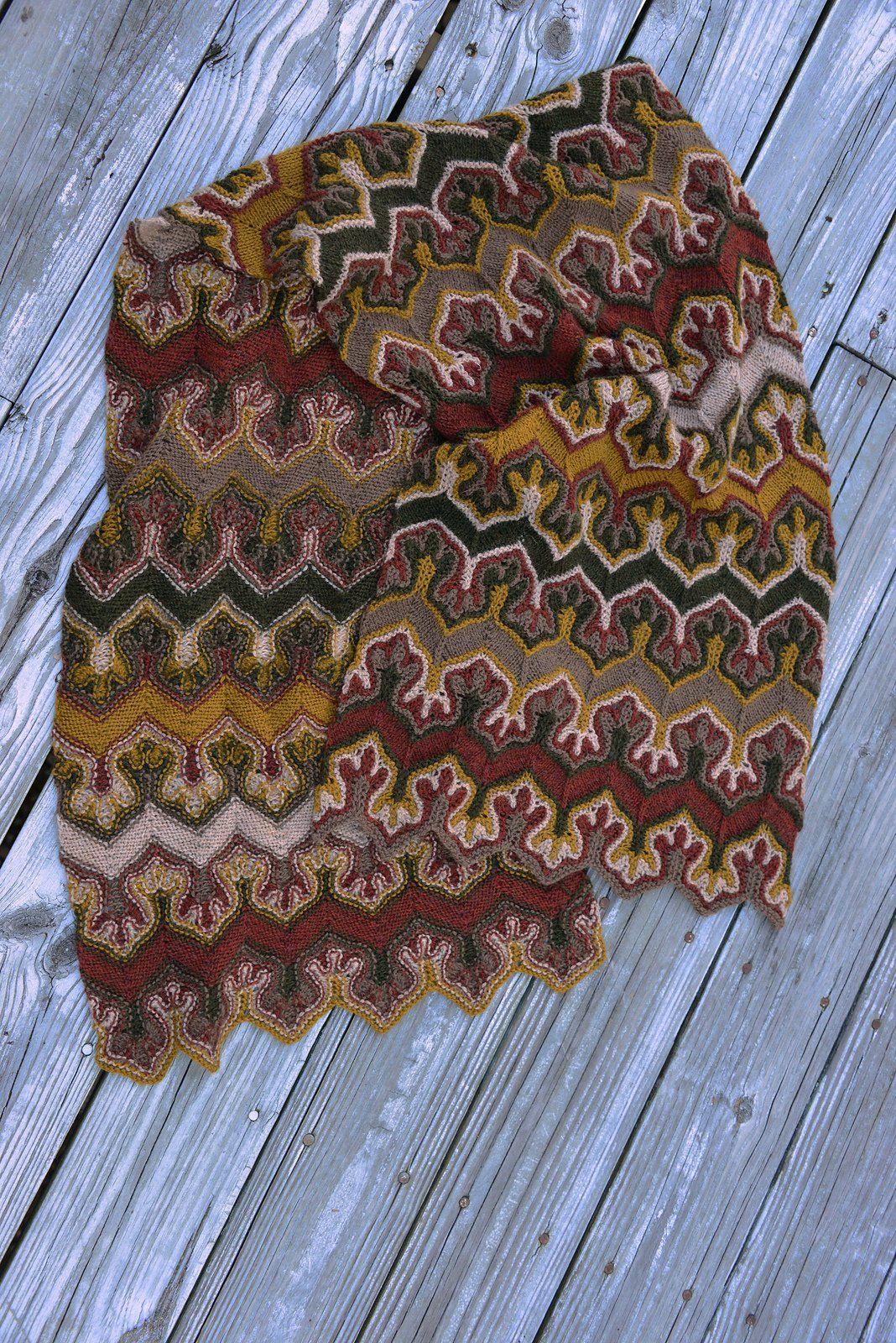 башлык-шарф спицами схема