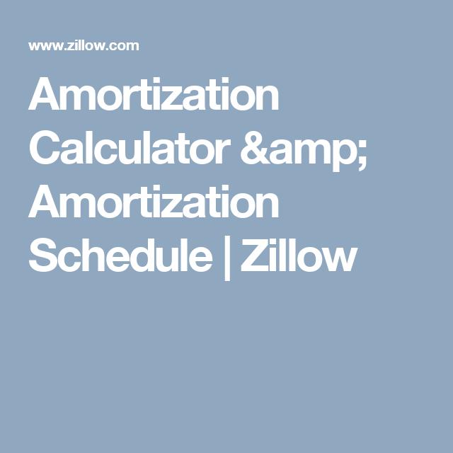 Amortization Calculator Amp Amortization Schedule Zillow