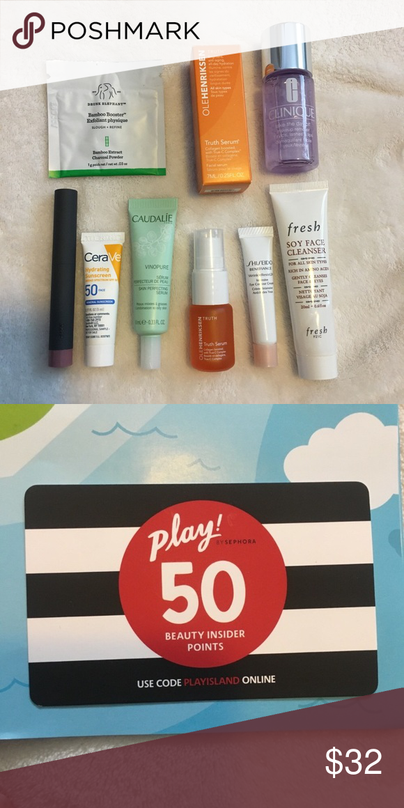 Sephora Sampler NWT in 2020 Face cleanser, Lip crayons