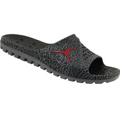 Air Jordan Super Fly Team Slide Slide Sandals - Mens Black Gym Red Cool Grey