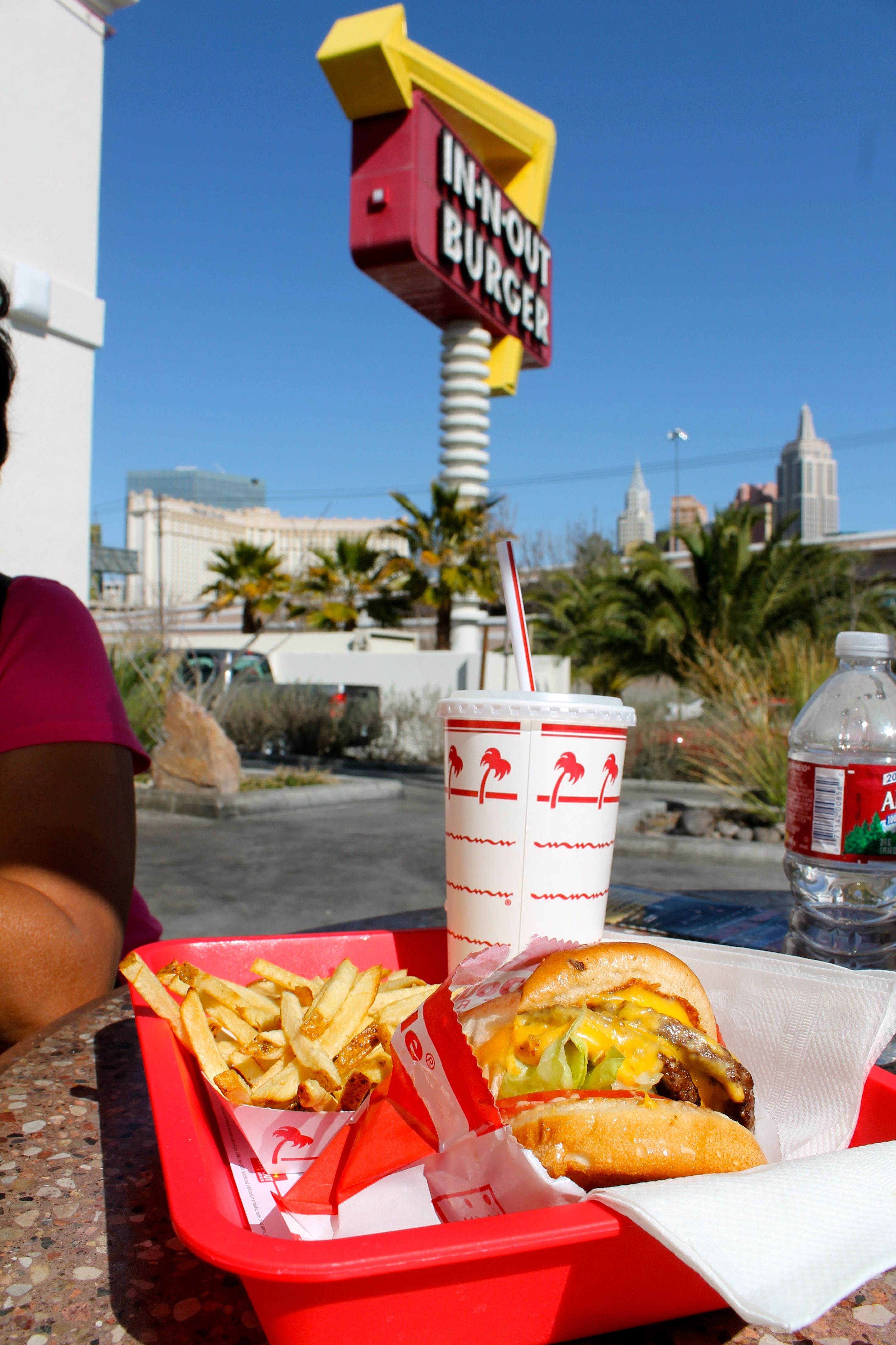 In and Out Burger! In San Diego