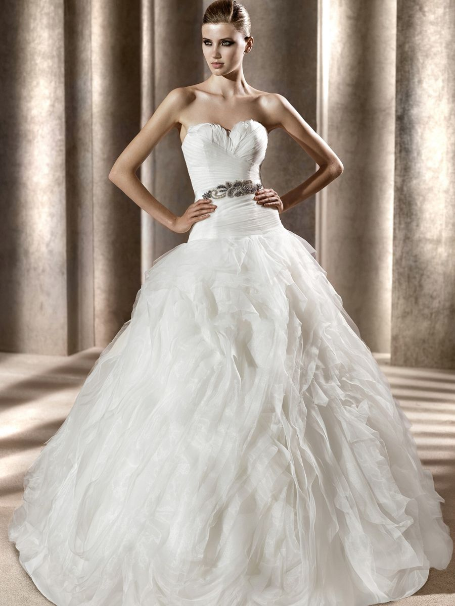 dropped waist ball gown