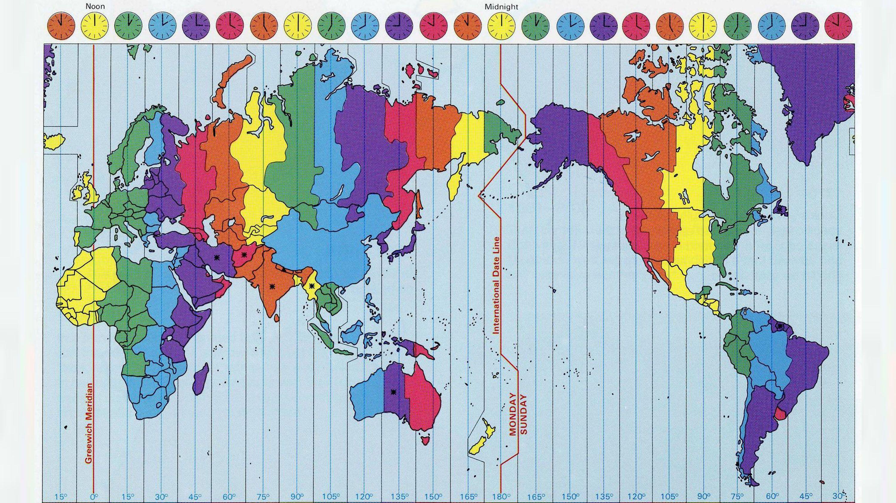 Cartina Fusi Orari Mondo.15 Idee Su Your Time Orologio Muri Esterno