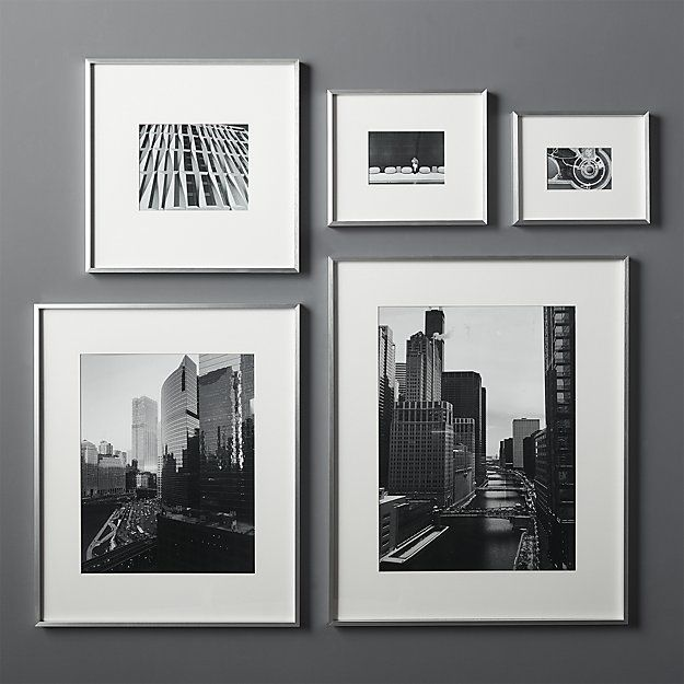 Gallery Brushed Silver 8x10 Picture Frame Unique Picture Frames Picture Frame Decor Picture Frame Crafts