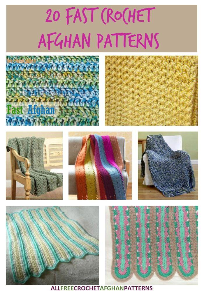 32 Fast Crochet Afghan Patterns