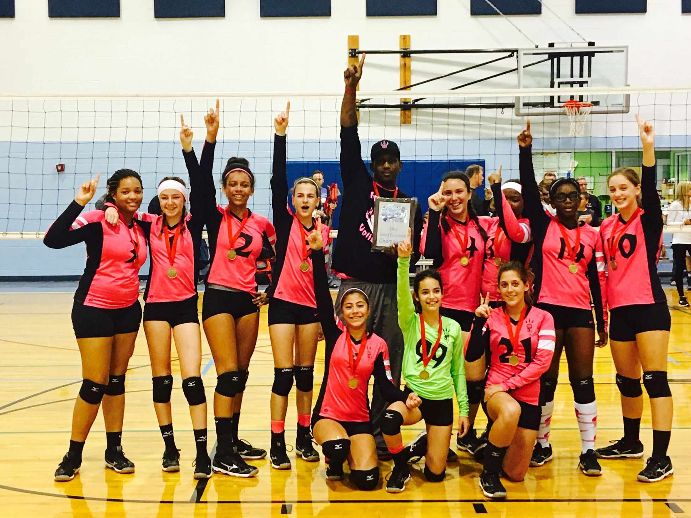 Congratulations To My Taylor And The Tampa Bay Raptors 14 Year Old Volleyball Team For Winning A Gold Medal In Their First Volleyball Team Volleyball Tampa Bay