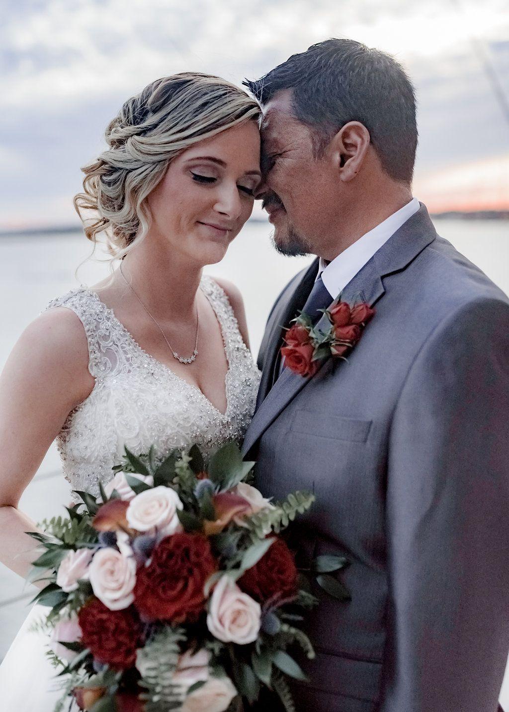 Burnt orange and gray wedding lesner inn gray weddings