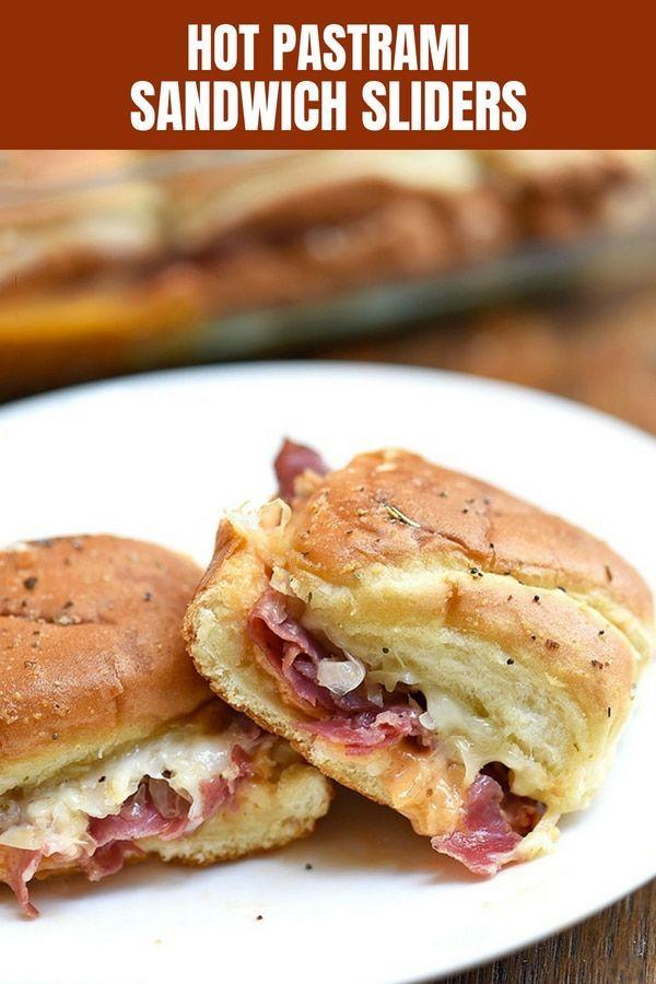 Hot Pastrami Sliders #breakfastslidershawaiianrolls