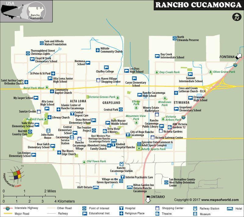 San Bernardino Ca Map on