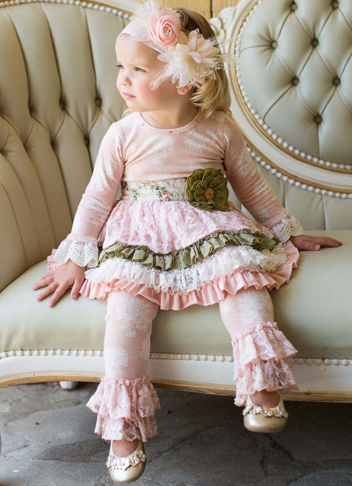 The Giggle Moon Giggle Moon Tree of Life Tutu Dress with Lace