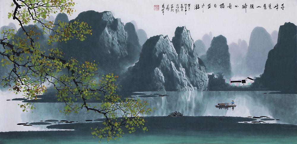 Chinese Decoration Famous Artist Zhangquanzong Oriental Asian Traditional Landscape Painting C Chinese Landscape Painting Chinese Landscape Landscape Paintings