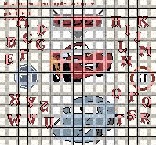 Point de croix cars 2 gratuit points d ecroix - Cars 2 gratuit ...