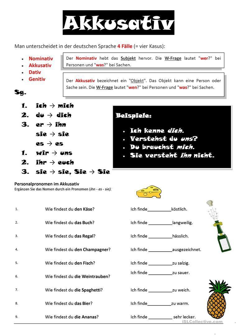 akkusativ deutsch bungen deutsch lernen und deutsch unterricht. Black Bedroom Furniture Sets. Home Design Ideas