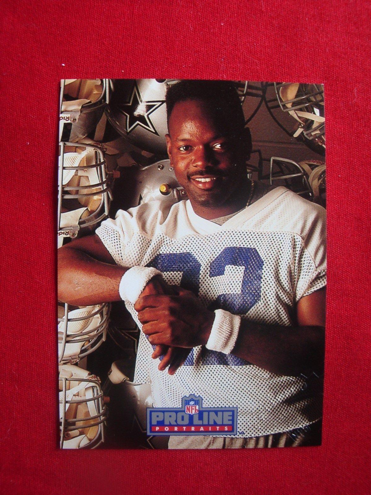 1992 pro line portraits autographed card of dallas cowboys