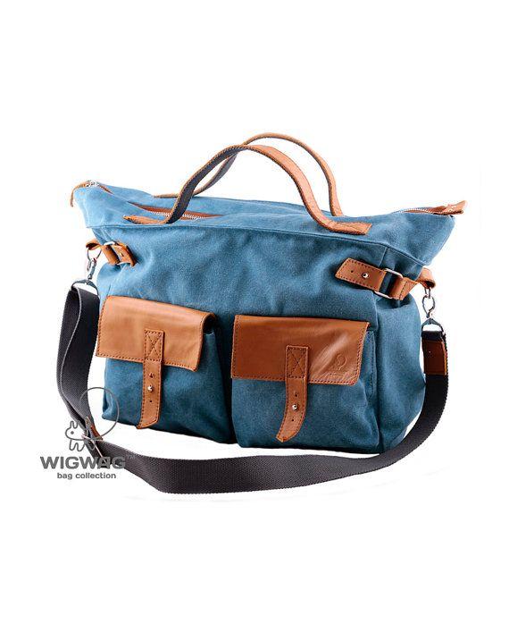 4173db7b9 Men's bag, canvas mens bag, mens messenger, mens leather canvas bag,  messenger