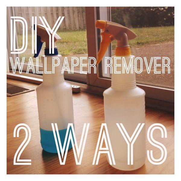 DIY Wallpaper Remover: 2 Ways   Diy wallpaper, Wallpaper ...