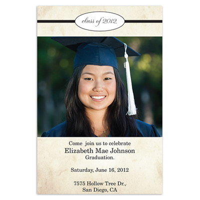 Vintage Grad Photo Announcements Walmart Stationery Graduation