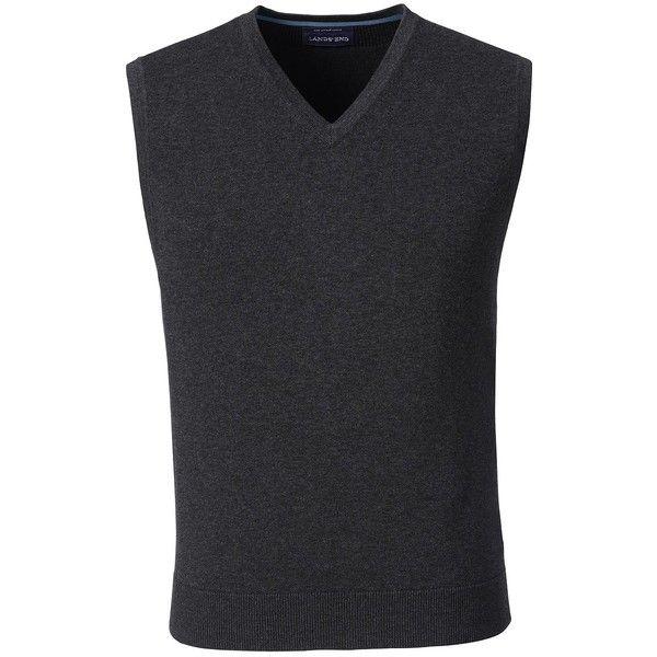 Lands' End Men's Tall Fine Gauge Supima Cotton Sweater Vest ($30 ...