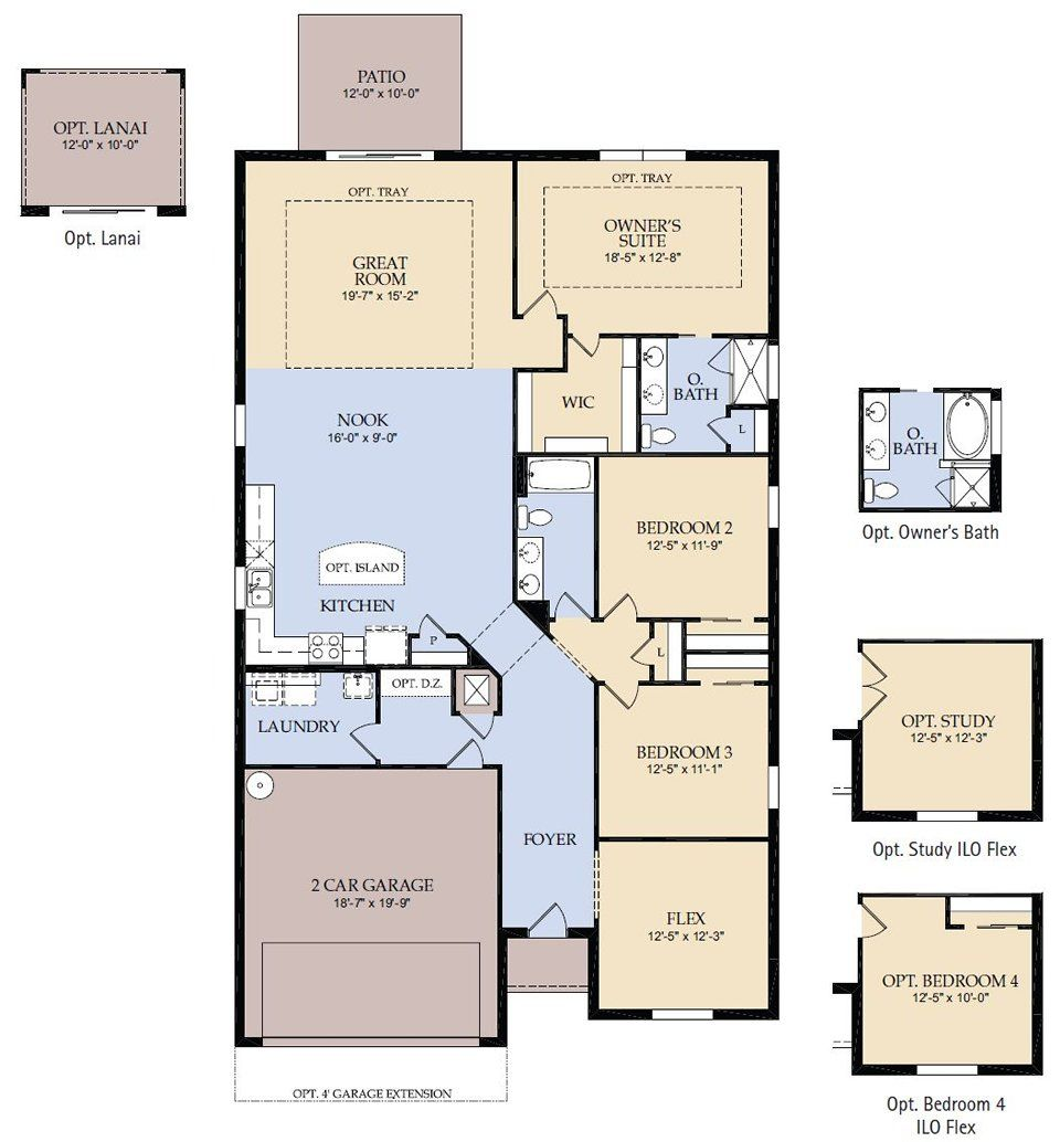 Floor Plans For Ranch Homes With 3 Bedrooms Floor Plan