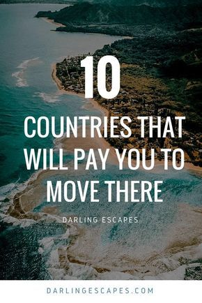 Nowadays, it's easier to pack your bags and start a new life abroad than ever. And what makes this fact even sweeter is that there are some pretty cool countries that will actually pay you to move there! #Asia #Europe #Canada #MovingAbroad #LifeAbroad