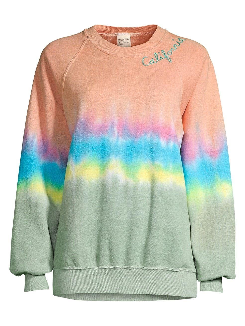 I Stole My Boyfriend S Shirt California Tie Dye Crewneck Sweatshirt Saksfifthavenue In 2021 Tie Dye Crewneck Sweatshirts Boyfriend Shirt Tie Dye Shirts Patterns [ 1312 x 984 Pixel ]