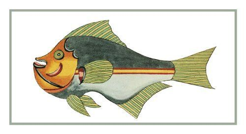 Fallour/'s Renard/'s Colorful Tropical Fish # 7 Counted Cross Stitch Chart Pattern