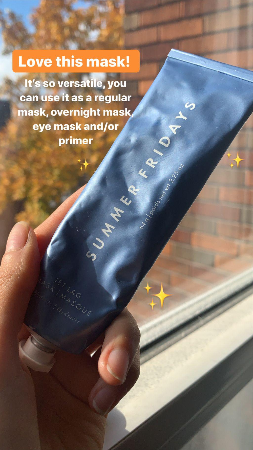 REVIEW // Jet lag mask by Summer Fridays Jet lag, Summer
