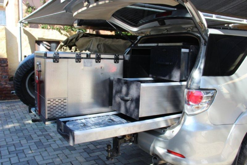 Full length drawer system for Toyota Fortuner Drawers