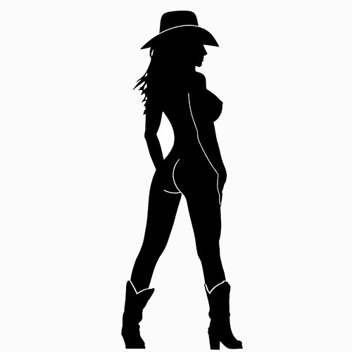 silhouettes cowgirl girl nude