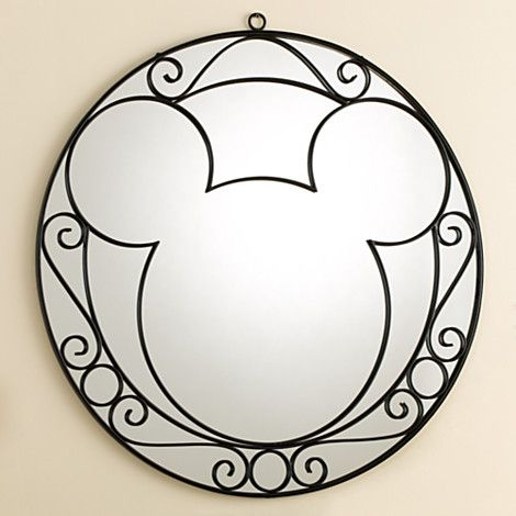 Wrought Iron Mickey Mouse Wall Mirror   Home   Decor   New   Disney Store. Wrought Iron Mickey Mouse Wall Mirror   Home   Decor   New