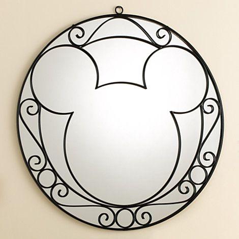 Wrought Iron Mickey Mouse Wall Mirror Home Decor New Disney