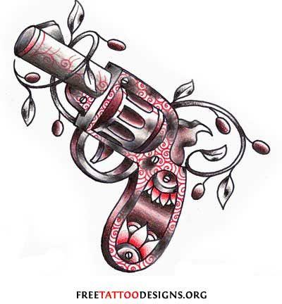 Revolver Tattoo Drawing Gang Tattoos Symbols Prison Tattoo