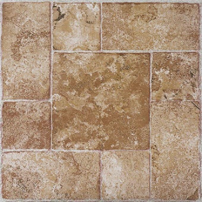 Achim Tivoli Beige Terracotta 12x12 Self Adhesive Vinyl Floor Tile 45 Tiles 45 Sq Ft 12x12 B Tile Floor Vinyl Flooring Self Adhesive Vinyl Tiles