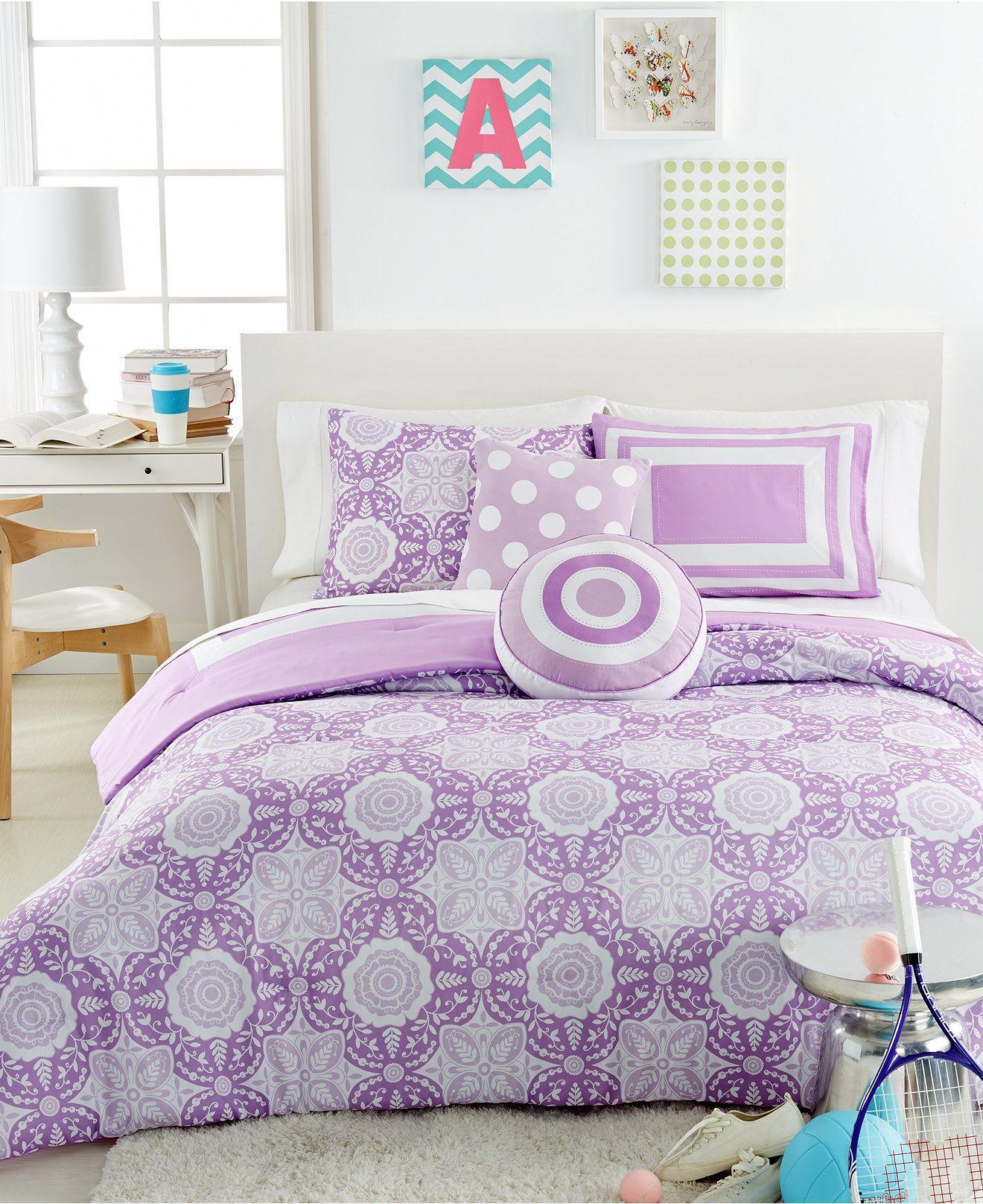 Lavender Medallion 5 Piece Comforter Sets Kids' Bedding