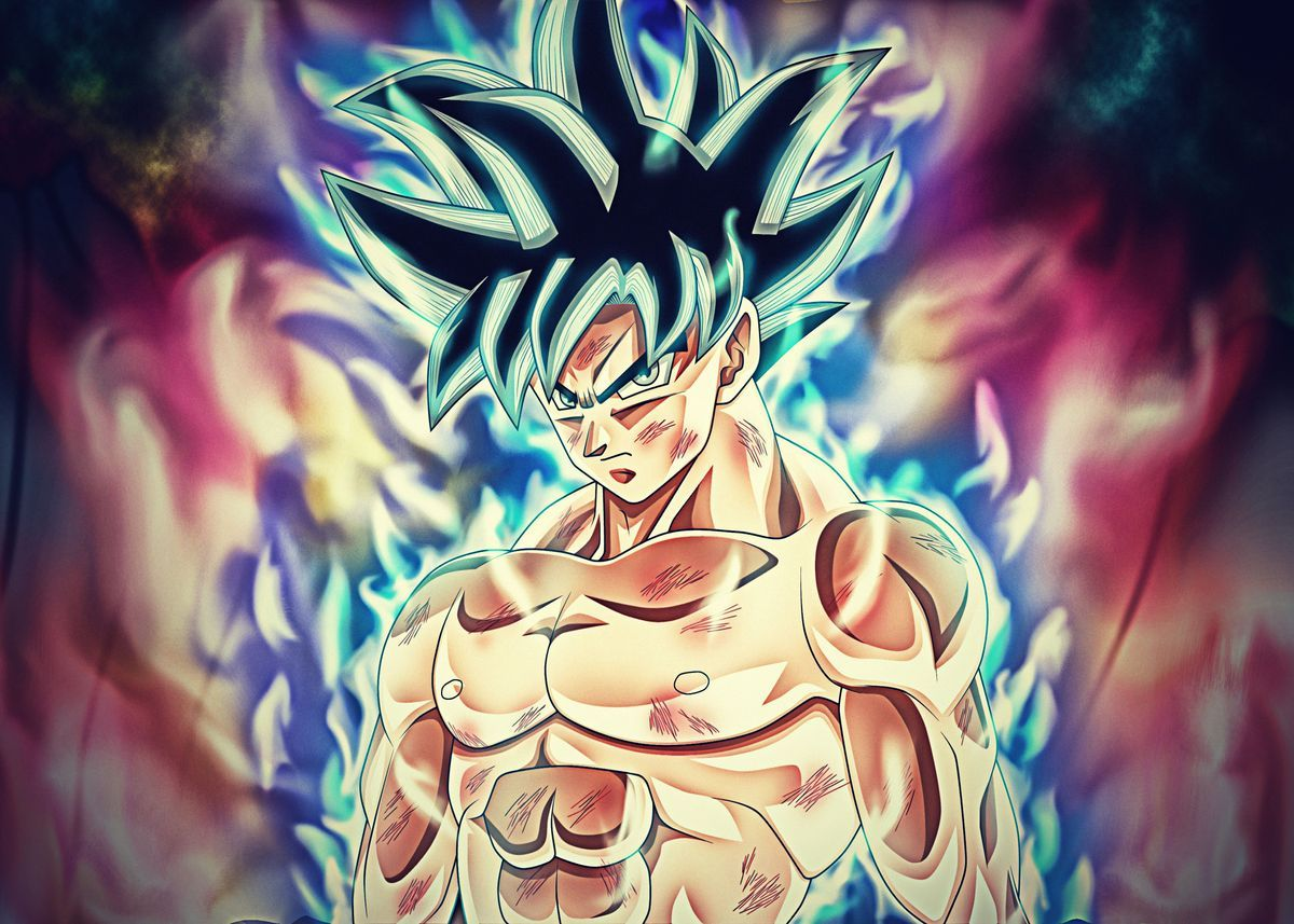 Dragon Ball Super Poster By Biglov3 Displate In 2021 Goku Wallpaper Dragon Ball Wallpapers Dragon Ball Super Wallpapers