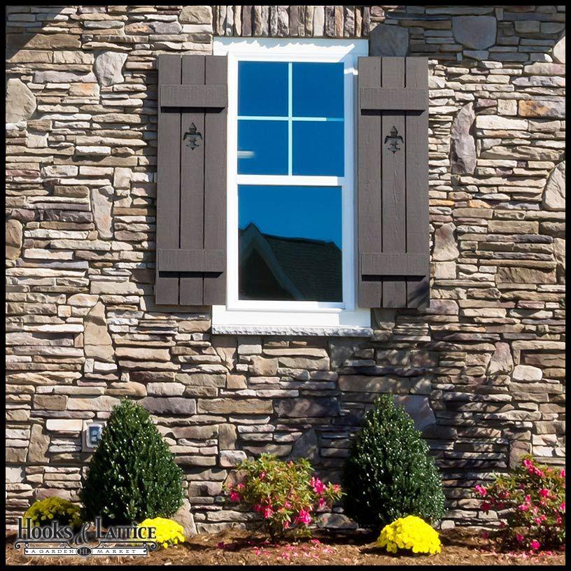 Designer Cut-Out Cedar Board & Batten Exterior Shutters | home ...