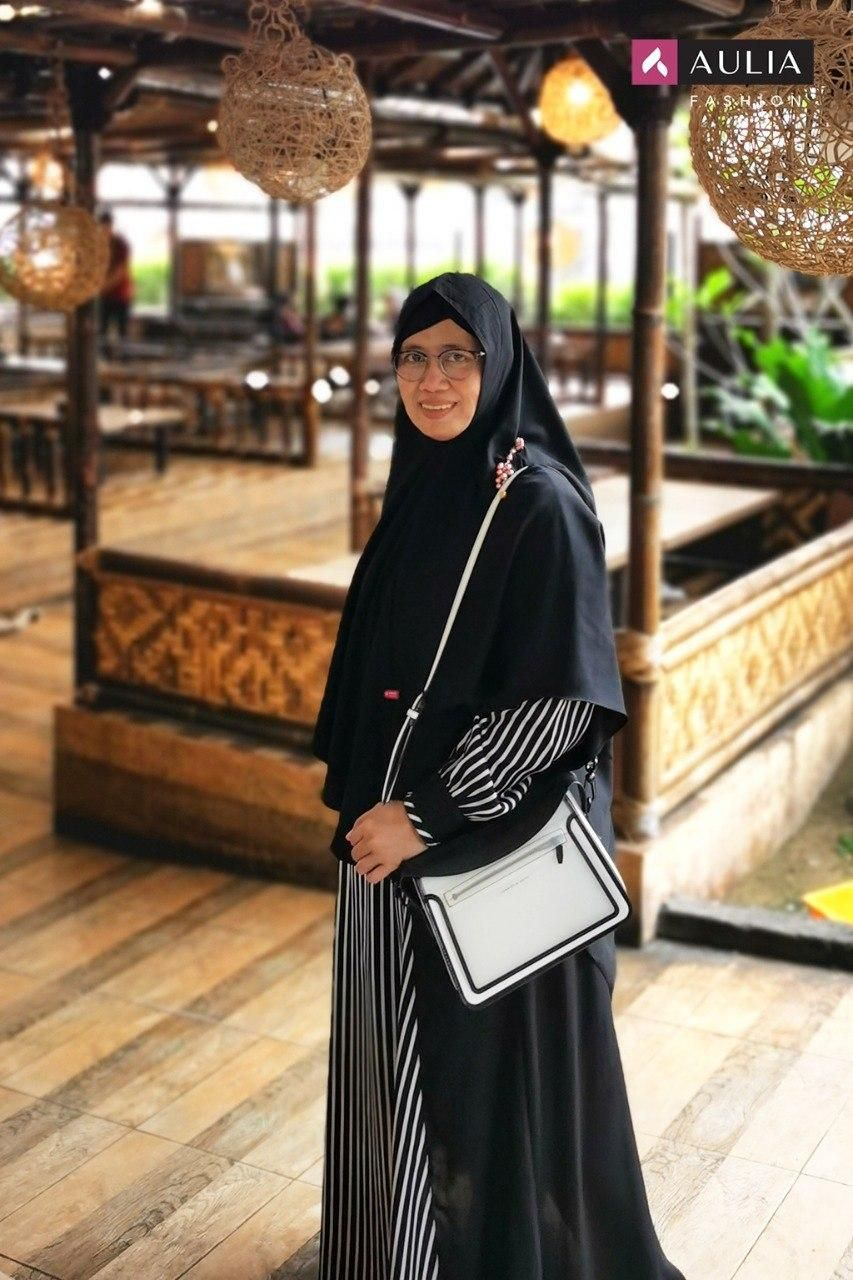 Model Baju Gamis Set Syari Lebaran Terbaru 8 by AULIA FASHION