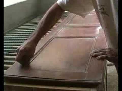 Como restaurar un mueble antiguo (4ª parte) barnizado - YouTube