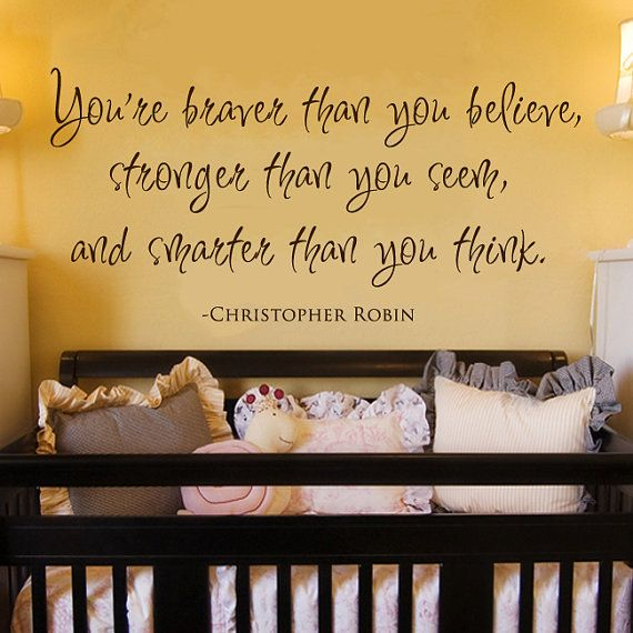 Love the idea of an inspirations quote over a babies crib . . . like ...